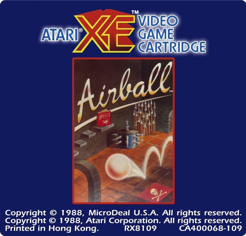 Atari XEGS Label for Airball
