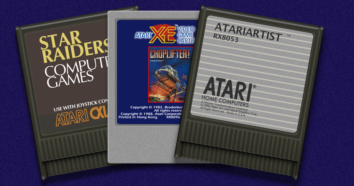 Two new Atari XL cart labels