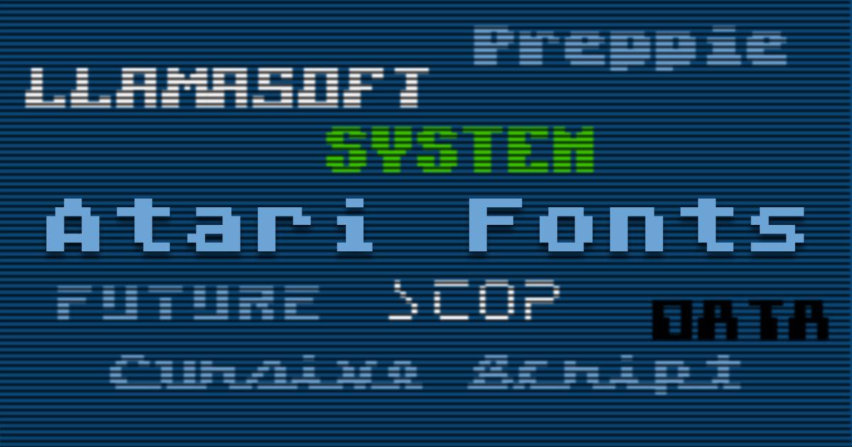 Atari Fonts