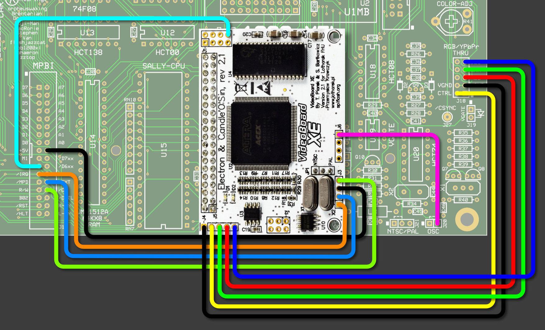 Vbxe  U2013 1088xel Wiring Diagram  U2013 Atari 8bit